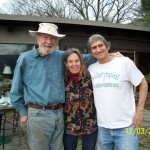 with Pete Seeger & Lynne Cherry. Photo by Connie Hogarth